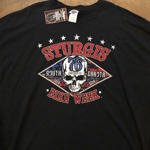 Sturgis T-shirt with tags by Gilden 4XL